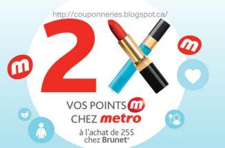 Metro - brunet 2 fois plusse de point photo coupon