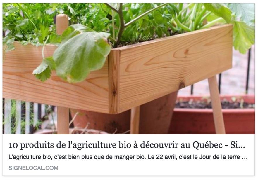 agriculture bio signe local